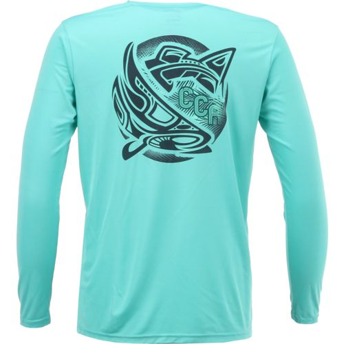 CCA Men's Performance Tribal Logo Long Sleeve T-shirt