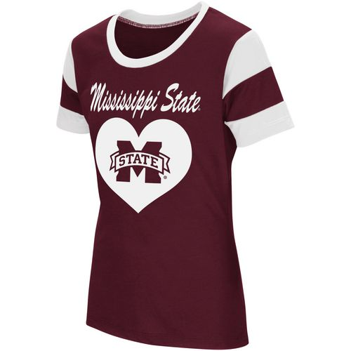 Colosseum Athletics Girls' Mississippi State University Bronze Medal Short Sleeve T-shirt - view number 1