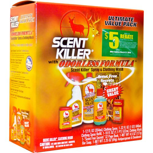 Display product reviews for Wildlife Research Center Super Charged Scent Killer Ultimate Pack