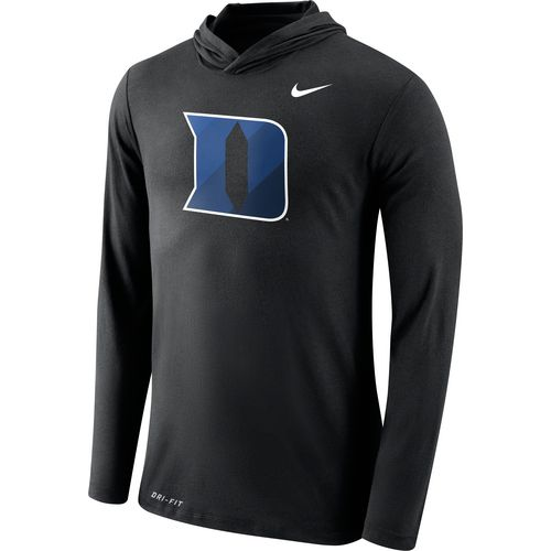 Nike Men's Duke University Dri-Blend Long Sleeve Hoodie T-shirt