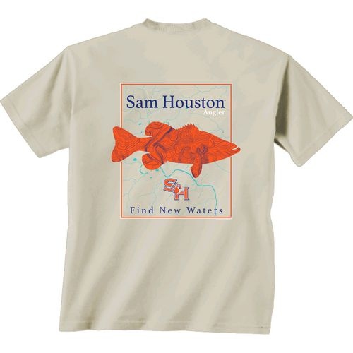 New World Graphics Men's Sam Houston State University Angler Topo Short Sleeve T-shirt