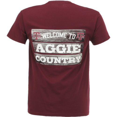 New World Graphics Men's Texas A&M University Welcome Sign T-shirt
