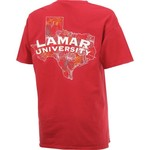 New World Graphics Women's Lamar University Comfort Color Puff Arch T-shirt - view number 2