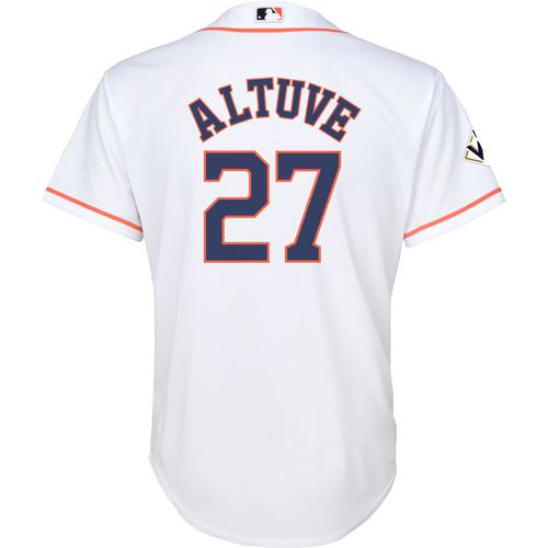 Majestic Kids Astros  Altuve Cool Base Jersey with World Series 17 Patch