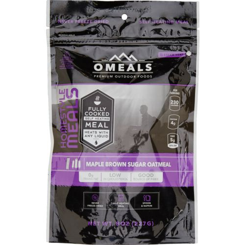 O Meals 8 oz Precooked Self-Heating Maple Brown Sugar Oatmeal - view number 1