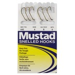 Mustad Classic Snelled Beak Single Hooks 6-Pack - view number 1