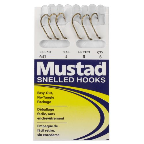 Mustad Classic Snelled Beak Single Hooks 6-Pack