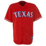 Majestic Adults' Texas Rangers Andrés Blanco Replica Baseball Jersey