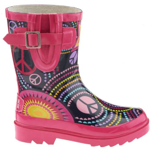 Stone Creek™ Girls' Peace and Stars Rubber Boots