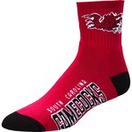 For Bare Feet Men's University of South Carolina Team Color Quarter Socks