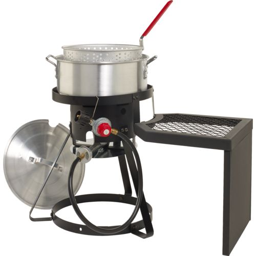 outdoor gourmet pro 10 qt fish fryer set wit with side