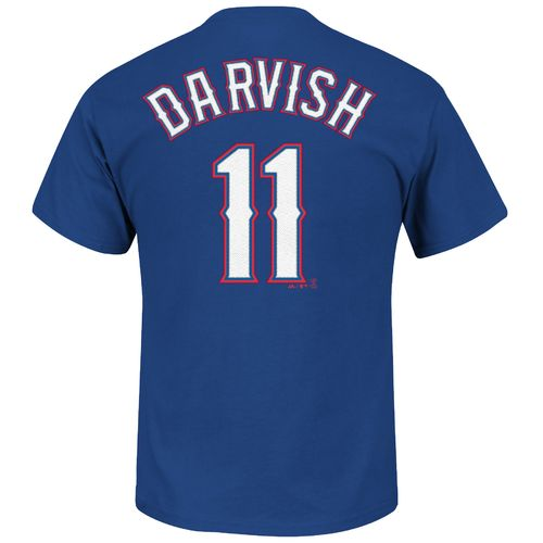 Majestic Men's Texas Rangers Yu Darvish #11 T-shirt