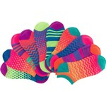 BCG Girls' Bright Multipattern No-Show Socks - view number 3