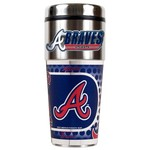 Great American Products Atlanta Braves 16 oz. Travel Tumbler with Metallic Wrap