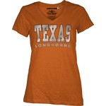 Three Squared Juniors' University of Texas Missy Bling Party T-shirt