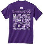 New World Graphics Men's Texas Christian University Schedule T-shirt