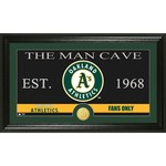 The Highland Mint Oakland Athletics Man Cave Bronze Coin Photo Mint