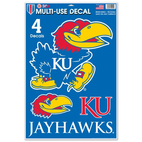 Hot WinCraft University of Kansas Multi-Use Decals 4-Pack for cheap