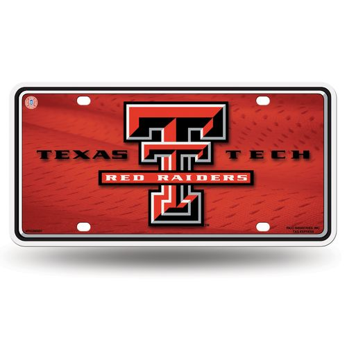 Rico Texas Tech University Metal Auto Tag