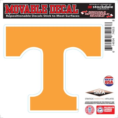 "Stockdale University of Tennessee 6"" x 6"" Decal"