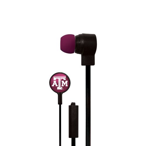 Mizco Texas A&M University Big Logo Earbuds