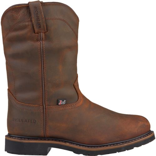 Display product reviews for Justin Men's Wyoming Worker II Waterproof Steel-Toe Work Boots