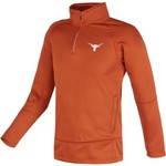 Majestic Men's University of Texas Section 101 1/4 Zip Synthetic Fleece Pullover