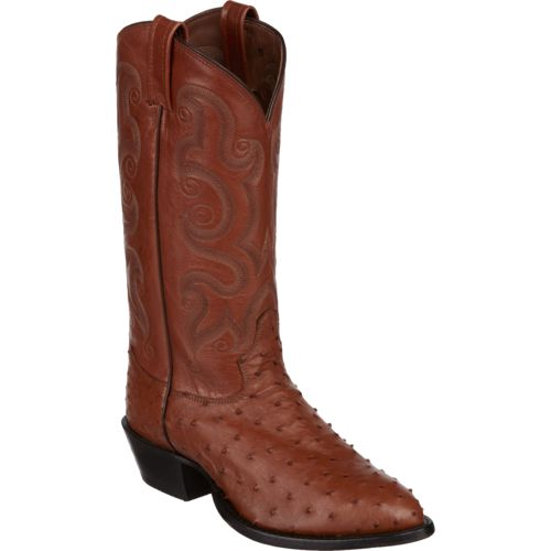 Tony Lama Men's Peanut Brittle Exotics Ostrich Western Boots - view number 2