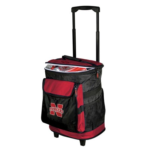 Logo University of Nebraska 48-Can Rolling Cooler