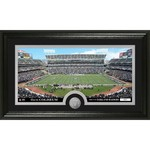 The Highland Mint Oakland Raiders Stadium Minted Coin Panoramic Photo Mint