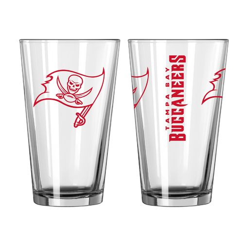 Boelter Brands Tampa Bay Buccaneers Game Day 16 oz. Pint Glasses 2-Pack