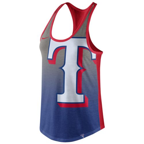 Nike™ Women's Texas Rangers Triblend Color Fade Tank Top