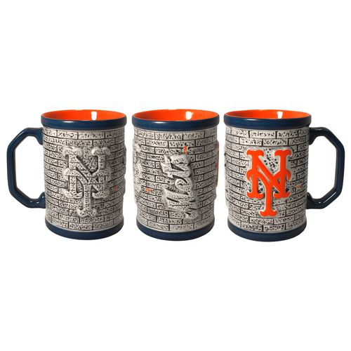 Boelter Brands New York Mets Stone Wall 15 oz. Coffee Mugs 2-Pack