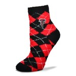 For Bare Feet Women's Atlanta Falcons Originals Sleepsoft Quarter-Length Argyle Socks