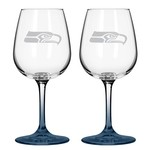 Boelter Brands Seattle Seahawks 12 oz. Wine Glasses 2-Pack