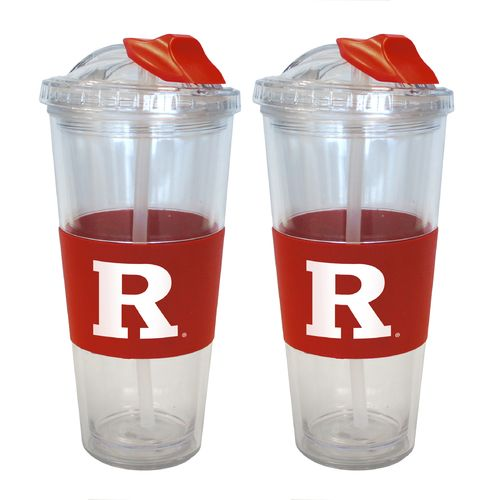 Boelter Brands Rutgers University 22 oz. No-Spill Straw Tumblers 2-Pack
