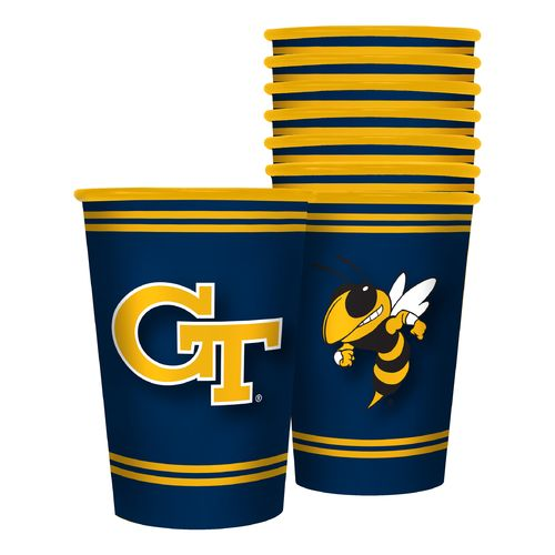Boelter Brands Georgia Tech 20 oz. Souvenir Cups 8-Pack - view number 1