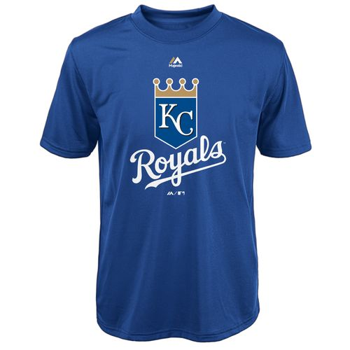 Majestic Boys' Kansas City Royals Primary Logo T-shirt