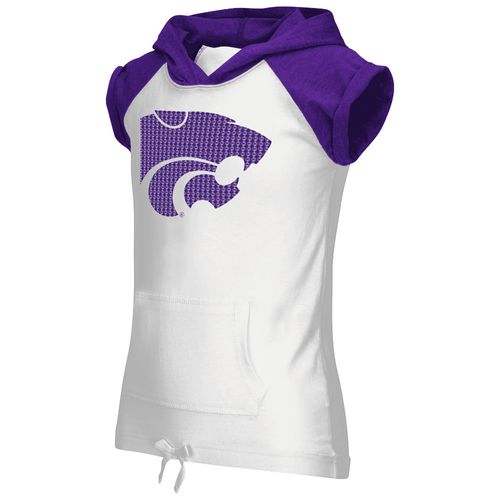 Colosseum Athletics Girls' Kansas State University Jewel Short Sleeve Hoodie