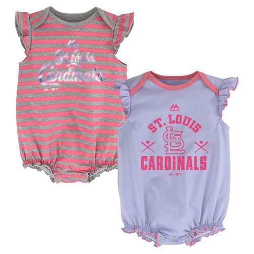 Majestic Infant Girls' St. Louis Cardinals Creepers 2-Pack