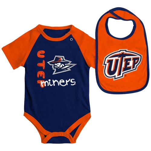 Colosseum Athletics Infants' University of Texas at El Paso Rookie Onesie and Bib Set