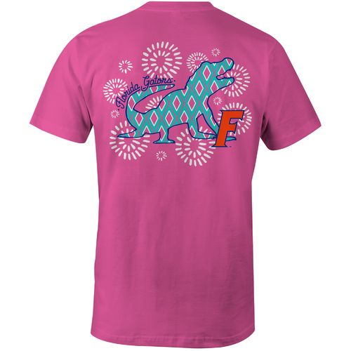 Image One Women's University of Florida Fireworks Comfort Color T-shirt