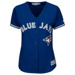 Majestic Women's Toronto Blue Jays José Bautista #19 Cool Base Replica Jersey - view number 2