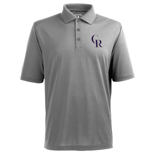 Antigua Men's Colorado Rockies Piqué Xtra-Lite Polo Shirt