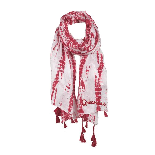 Chicka-d Women's University of Arkansas Tie Dye Scarf