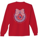 New World Graphics Women's Louisiana Tech University Ribbon Bow Long Sleeve T-shirt