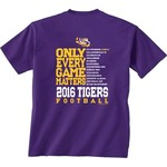 New World Graphics Men's Louisiana State University Schedule T-shirt