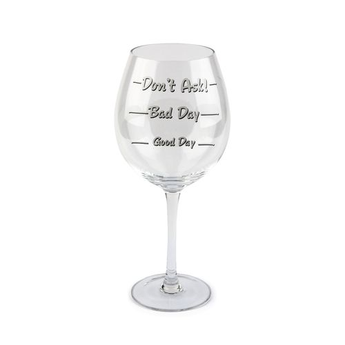 BigMouth How Was Your Day? Wine Glass