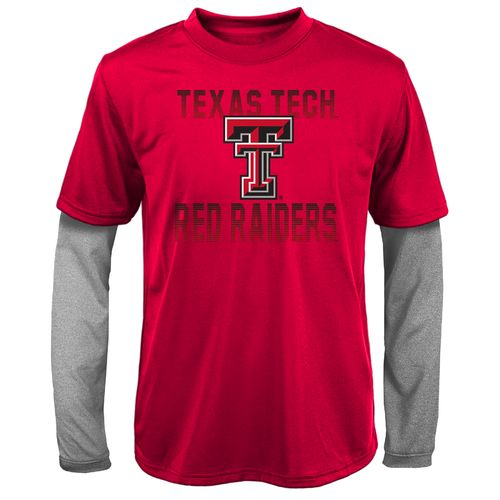 Gen2 Kids' Texas Tech University Bleachers Double Layer Long Sleeve T-shirt