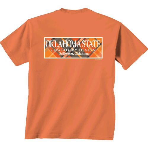 New World Graphics Women's Oklahoma State University Madras T-shirt